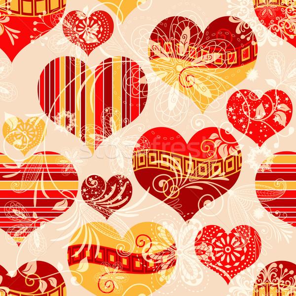 Seamless valentine pattern Stock photo © OlgaDrozd