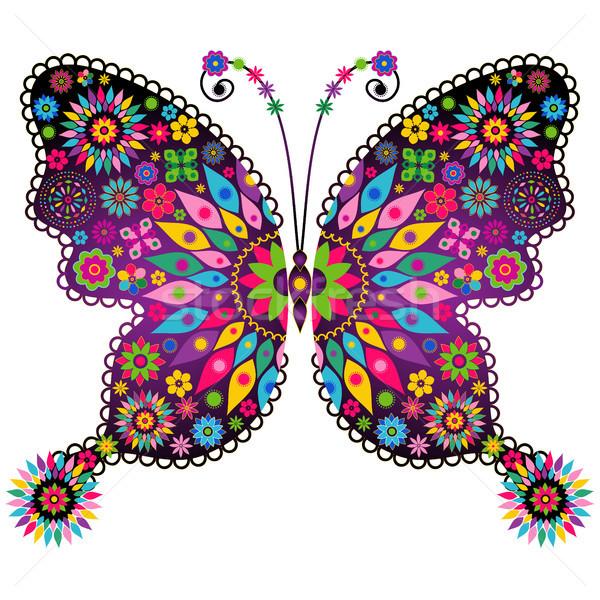 фантазий яркий Vintage бабочка весны красочный Сток-фото © OlgaDrozd