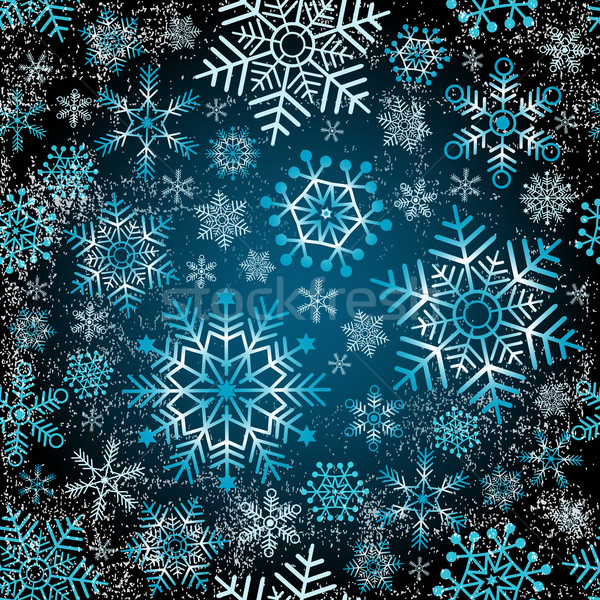 Seamless christmas grunge pattern Stock photo © OlgaDrozd