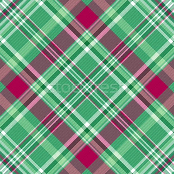 Seamless green-purple checkered pattern Stock photo © OlgaDrozd