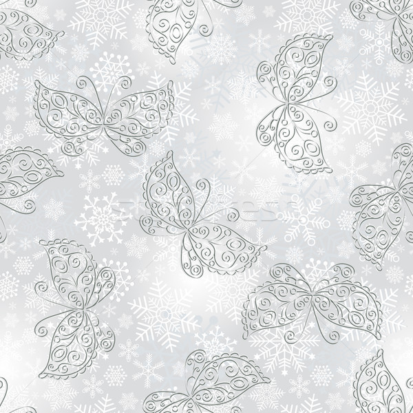 Winter seamless silvery spotty pattern Stock photo © OlgaDrozd