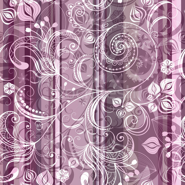 Striped pink floral pattern Stock photo © OlgaDrozd