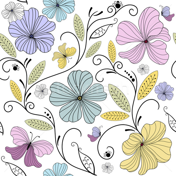 Pastel seamless floral pattern  Stock photo © OlgaDrozd