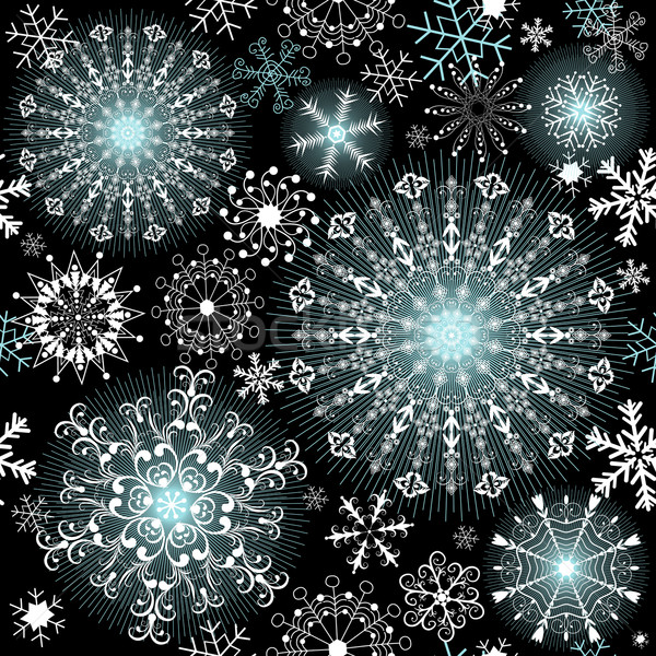 Christmas dark repeating pattern Stock photo © OlgaDrozd