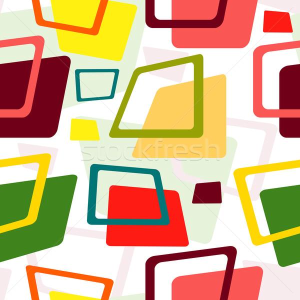 аннотация бесшовный белый шаблон красочный Сток-фото © OlgaDrozd