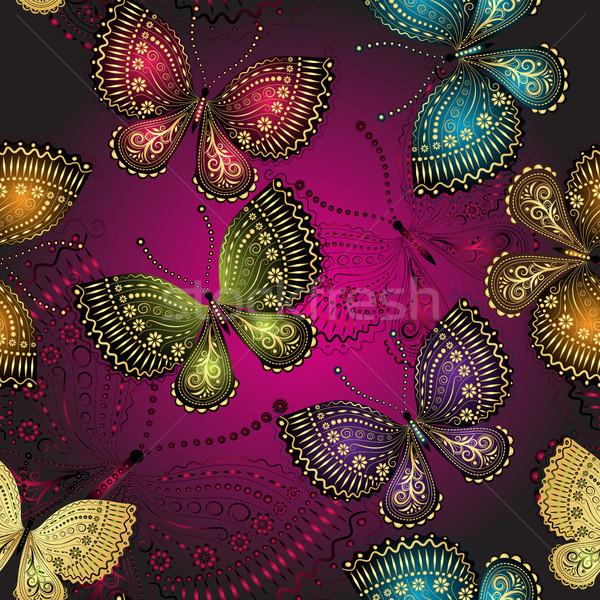 Printemps sombre pourpre modèle coloré Photo stock © OlgaDrozd
