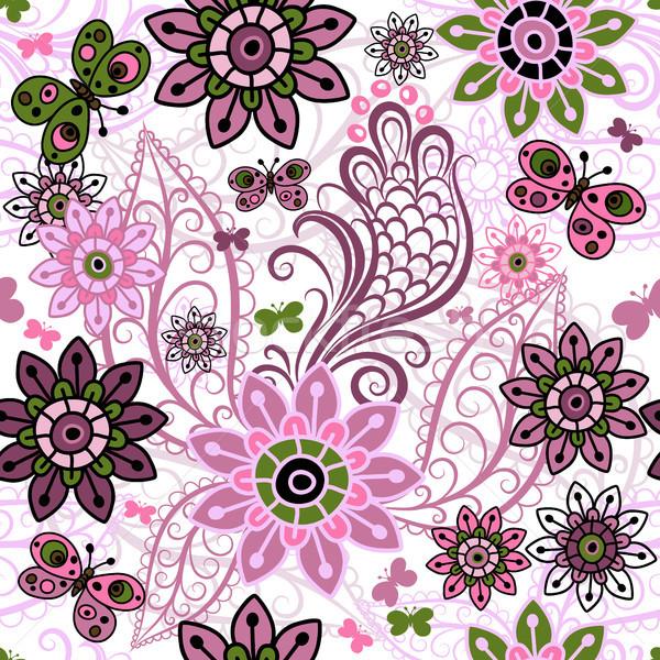 Seamless spring vintage pattern Stock photo © OlgaDrozd