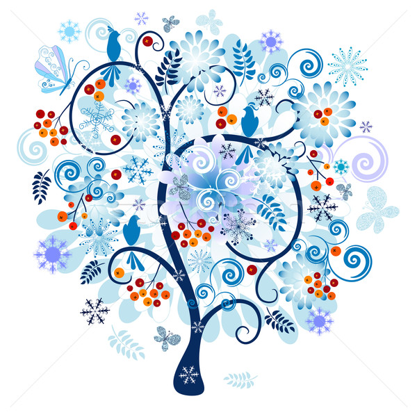 Stock photo: Winter decorative tree
