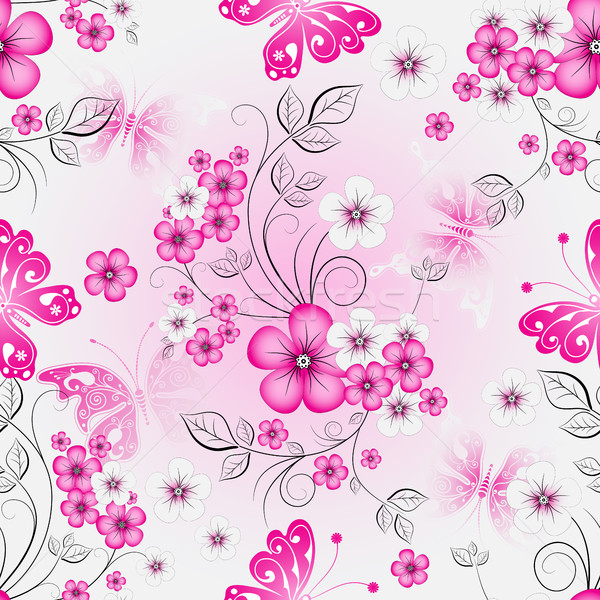 Floral effortless spring pattern Stock photo © OlgaDrozd