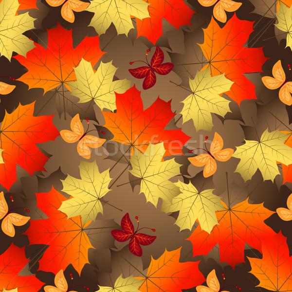 Marrón gradiente otono colorido Foto stock © OlgaDrozd