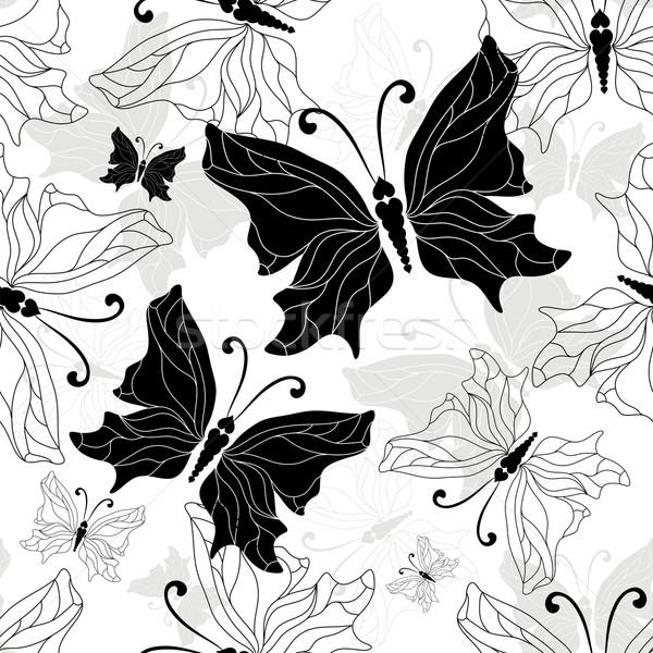 Graphique modèle blanche noir Photo stock © OlgaDrozd