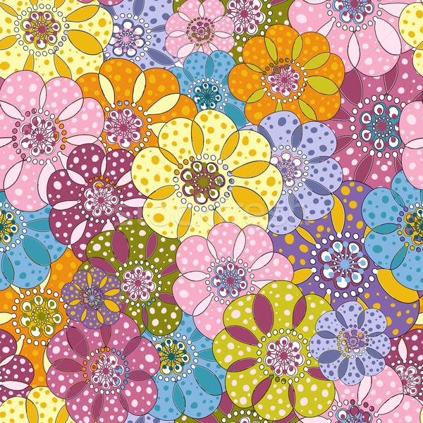 Seamless floral motley pattern Stock photo © OlgaDrozd