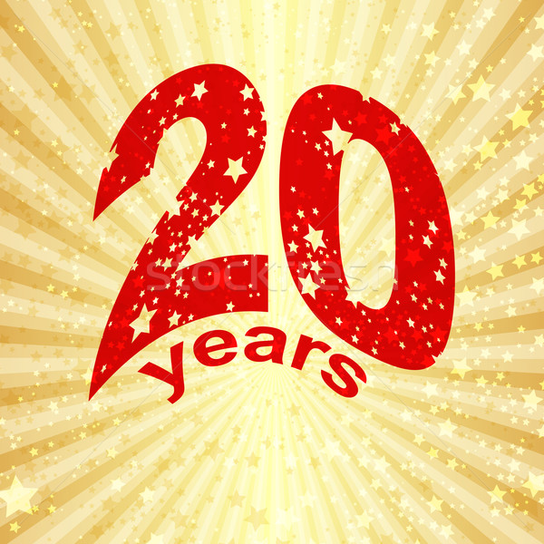Greeting card with the 20th anniversary Stock photo © OlgaDrozd