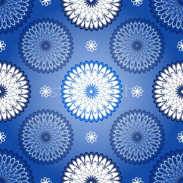 Seamless dark blue vintage patter Stock photo © OlgaDrozd