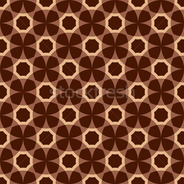Brown  seamless pattern Stock photo © OlgaDrozd