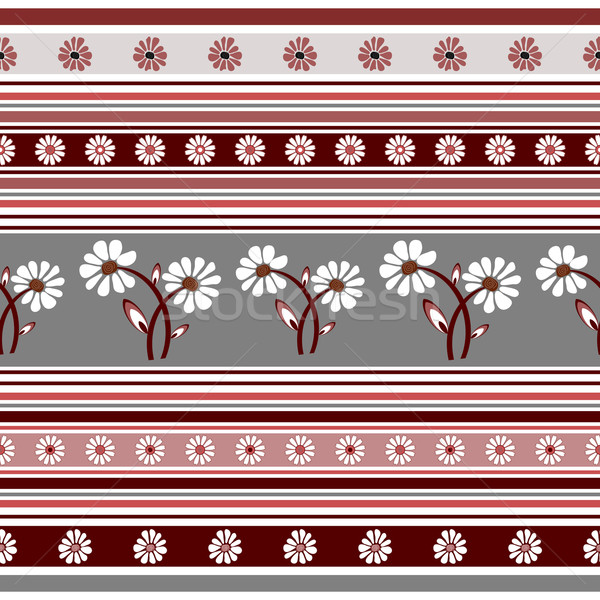 Seamless floral striped pattern Stock photo © OlgaDrozd