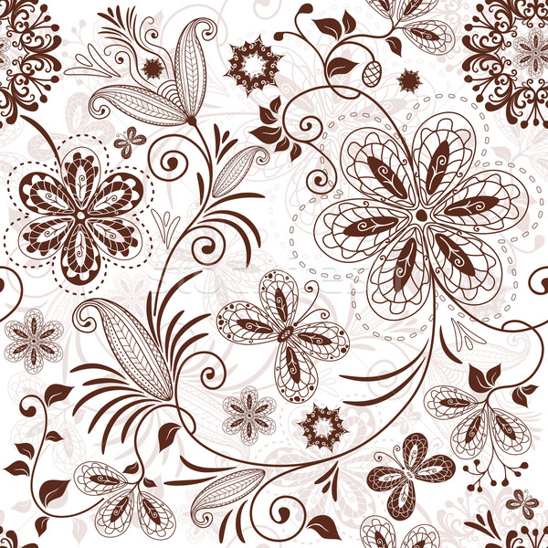 Seamless floral pattern Stock photo © OlgaDrozd