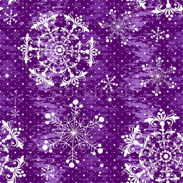 Seamless violet christmas grunge pattern Stock photo © OlgaDrozd