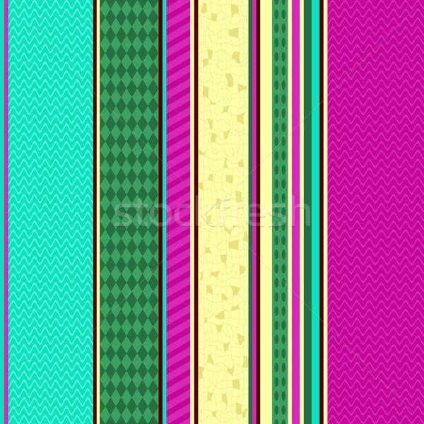 Colorful seamless striped pattern Stock photo © OlgaDrozd