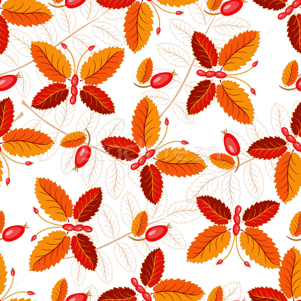 Seamless autumnal pattern with butterflies Stock photo © OlgaDrozd