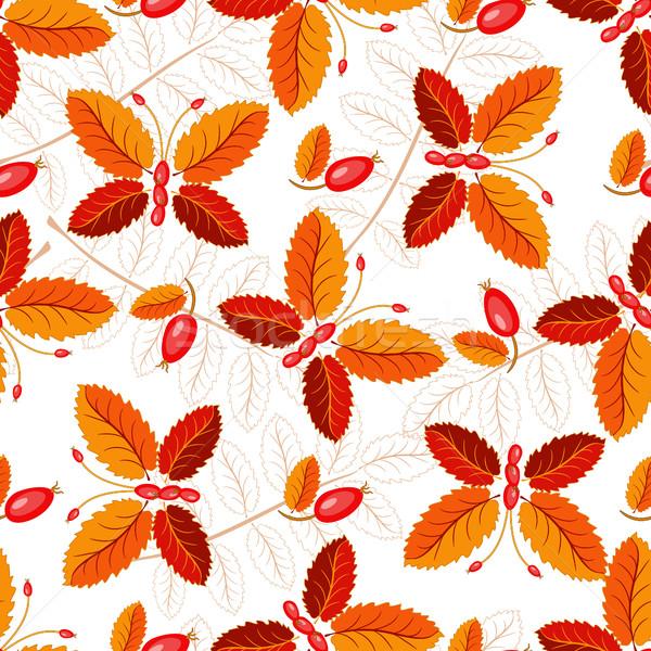 Foto stock: Sem · costura · padrão · borboletas · colorido · folhas