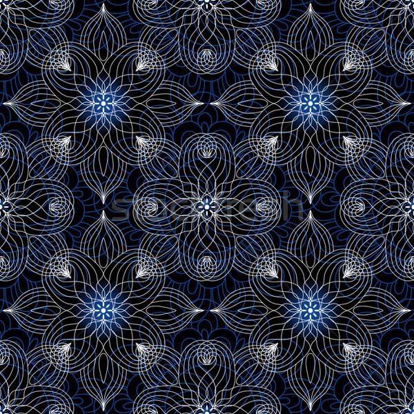 Seamless dark lace pattern Stock photo © OlgaDrozd