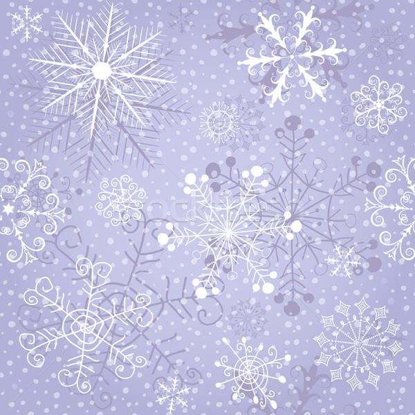 Weihnachten Wiederholung Muster violett Schnee Stock foto © OlgaDrozd