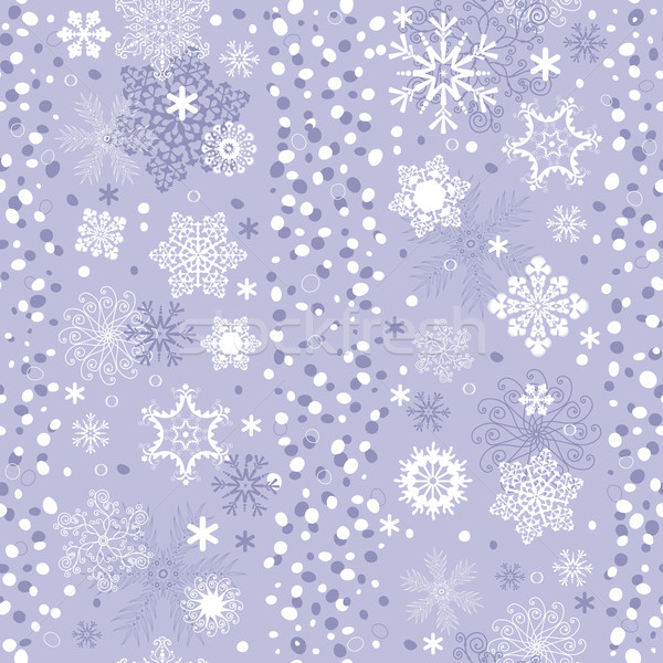 Seamless gentle violet-white striped christmas pattern Stock photo © OlgaDrozd