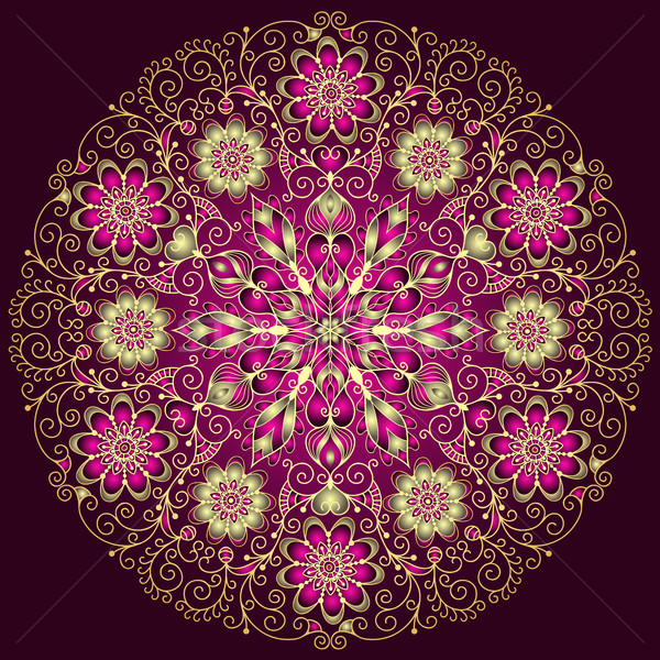 round floral vintage pattern Stock photo © OlgaDrozd