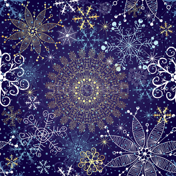 Christmas seamless pattern Stock photo © OlgaDrozd
