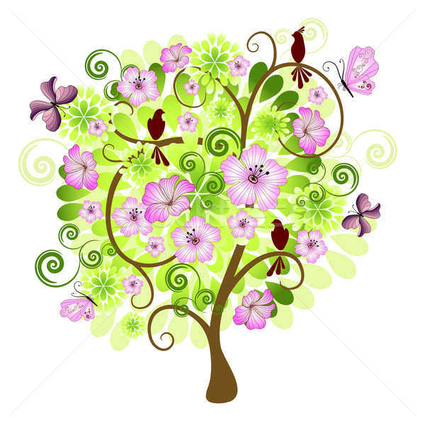 Spring  decorative tree Stock photo © OlgaDrozd