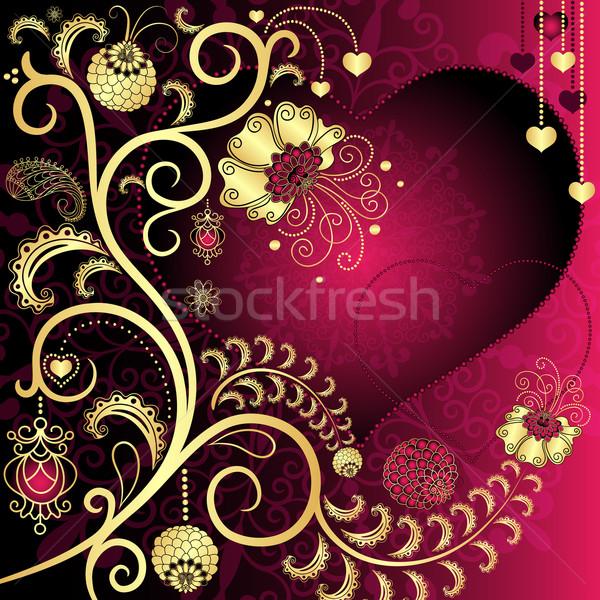 Vintage valentine card Stock photo © OlgaDrozd