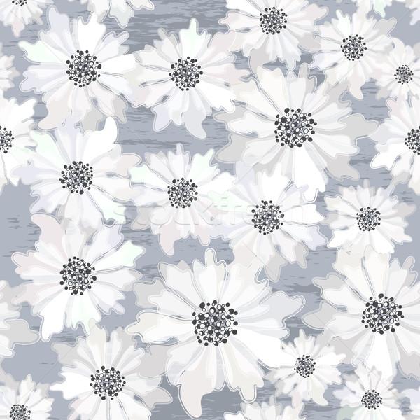 Floral printemps modèle fleurs blanches Photo stock © OlgaDrozd