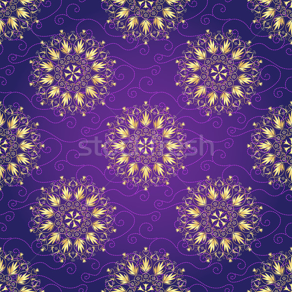 Seamless dark violet christmas pattern Stock photo © OlgaDrozd