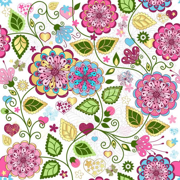 Seamless valentine colorful pattern Stock photo © OlgaDrozd