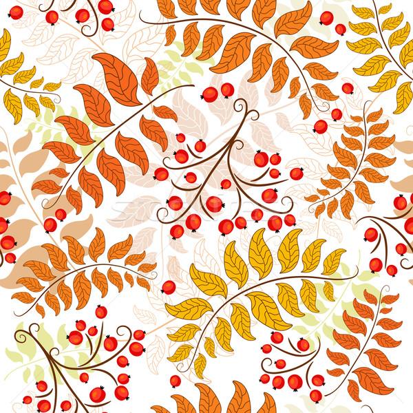 Automne décoratif floral modèle Photo stock © OlgaDrozd