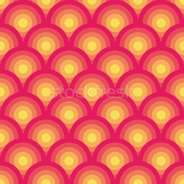 Herhalen geometrisch patroon abstract ontwerp retro behang Stockfoto © OlgaDrozd