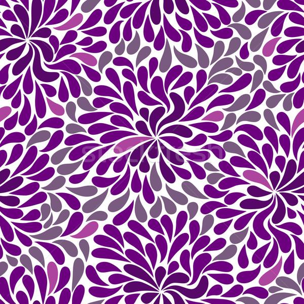 Repetitív ibolya minta fehér rózsaszín vektor Stock fotó © OlgaDrozd