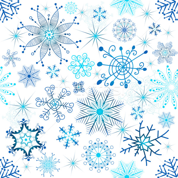 Christmas seamless white pattern Stock photo © OlgaDrozd