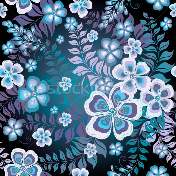 Dark seamless floral pattern Stock photo © OlgaDrozd