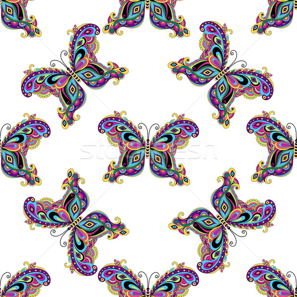 Seamless pattern with butterflies Stock photo © OlgaDrozd