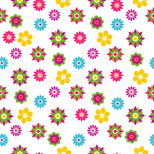 Seamless floral spring pattern Stock photo © OlgaDrozd