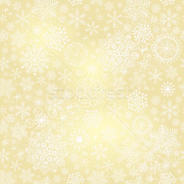 Seamless gold christmas pattern Stock photo © OlgaDrozd
