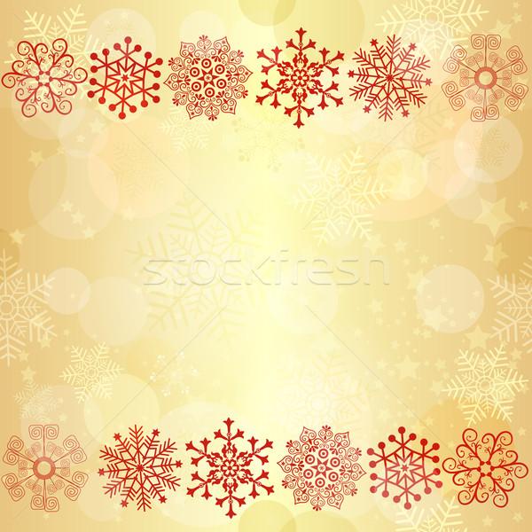 Gold  glowing seamless christmas pattern Stock photo © OlgaDrozd