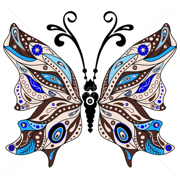 Decorative fantasy butterfly Stock photo © OlgaDrozd