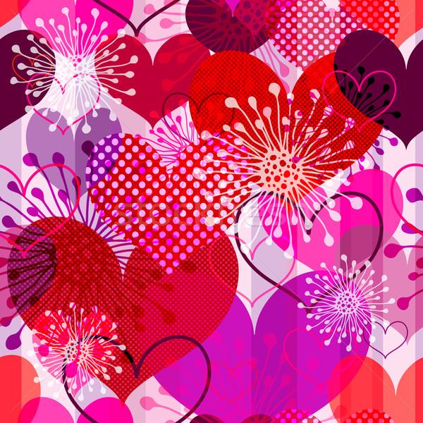 Valentin modèle rayé coloré transparent Photo stock © OlgaDrozd
