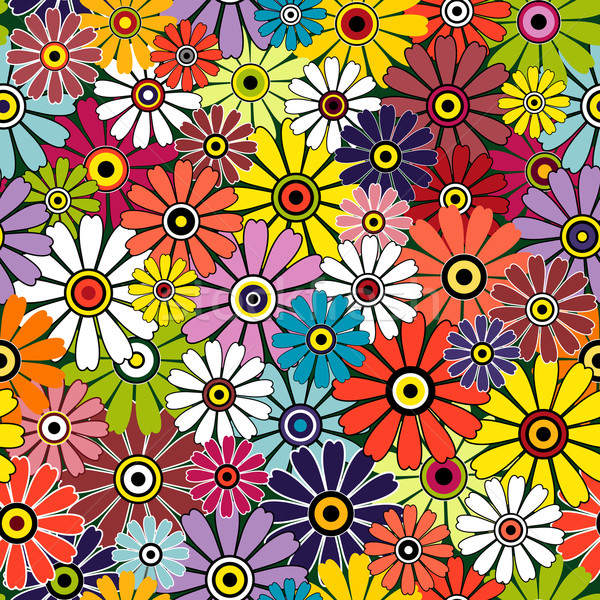 Motley seamless floral pattern Stock photo © OlgaDrozd