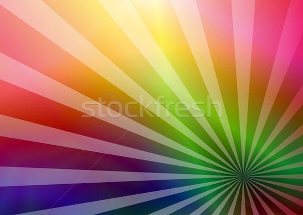 Rainbow carte de visite transparent vecteur eps Photo stock © OlgaDrozd