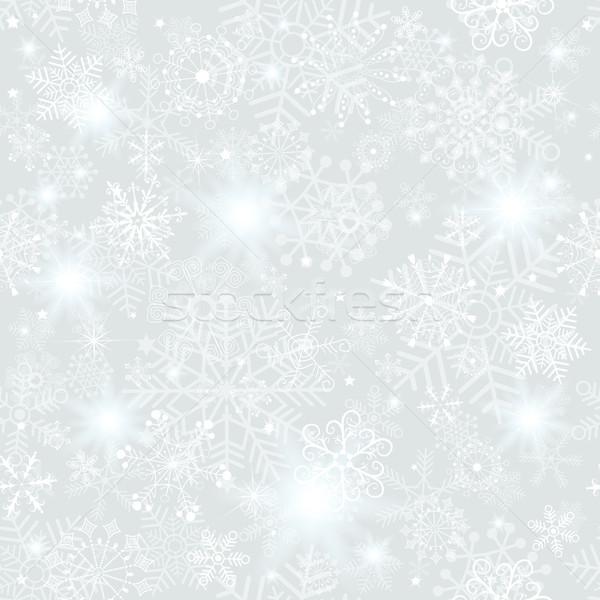 Seamless silver christmas pattern Stock photo © OlgaDrozd