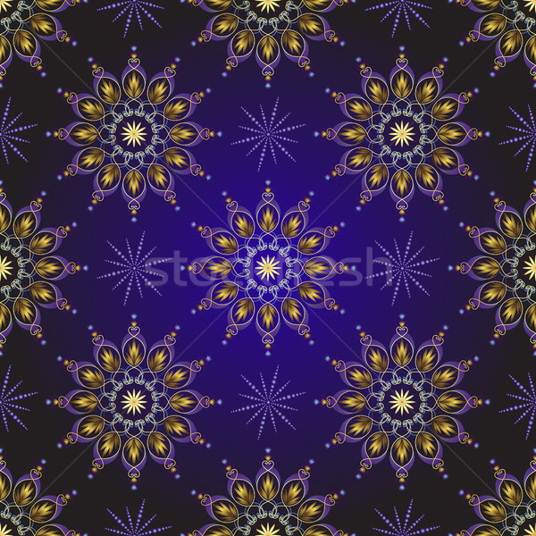 Seamless dark violet vintage christmas pattern Stock photo © OlgaDrozd